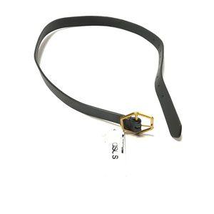 Asos Women's Belt Gold Tone Buckle Solid Black